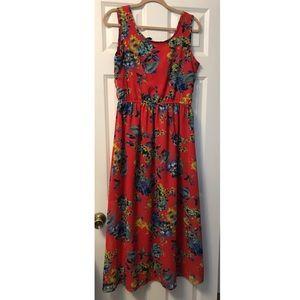 Floral Print Maxi Summer Dress